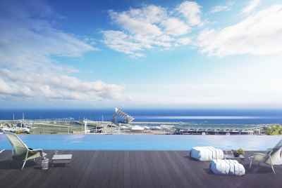 New apartments in a complex with pool in Barcelona near the sea